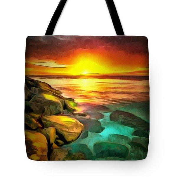 Ocean Lit In Ambiance Tote Bag