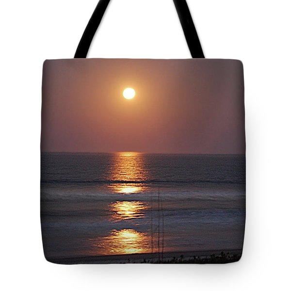 Ocean Moon In Pastels Tote Bag by DigiArt Diaries by Vicky B Fuller