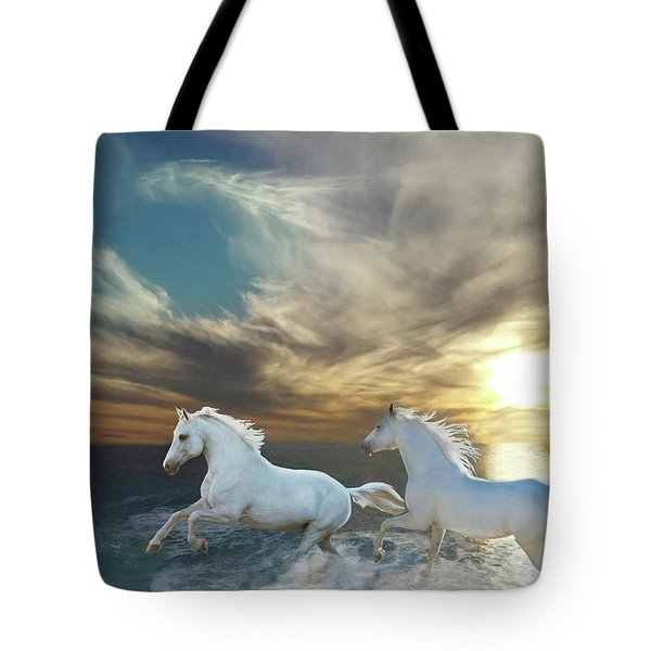 Ocean Play Tote Bag