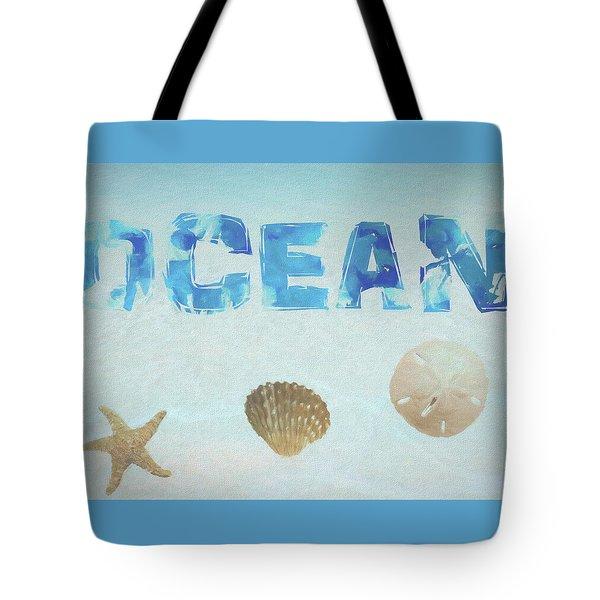 Ocean Postcard Tote Bag