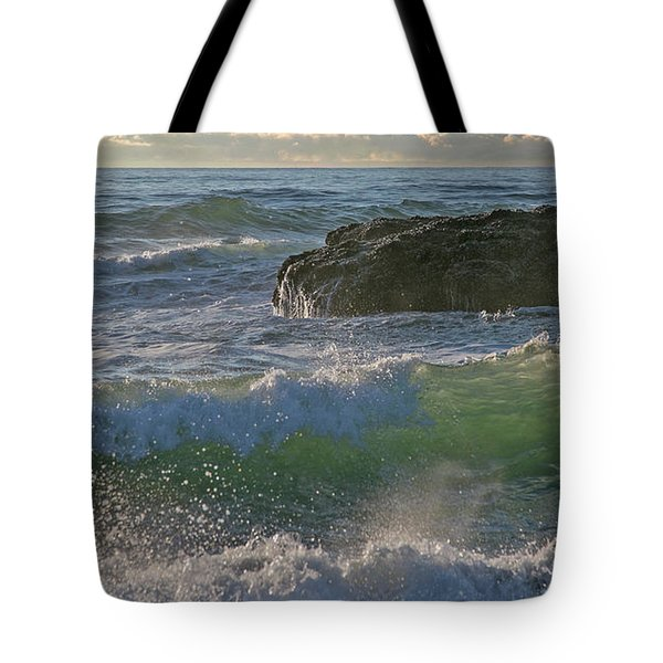 Tote Bag featuring the photograph Crashing Waves by Elvira Butler
