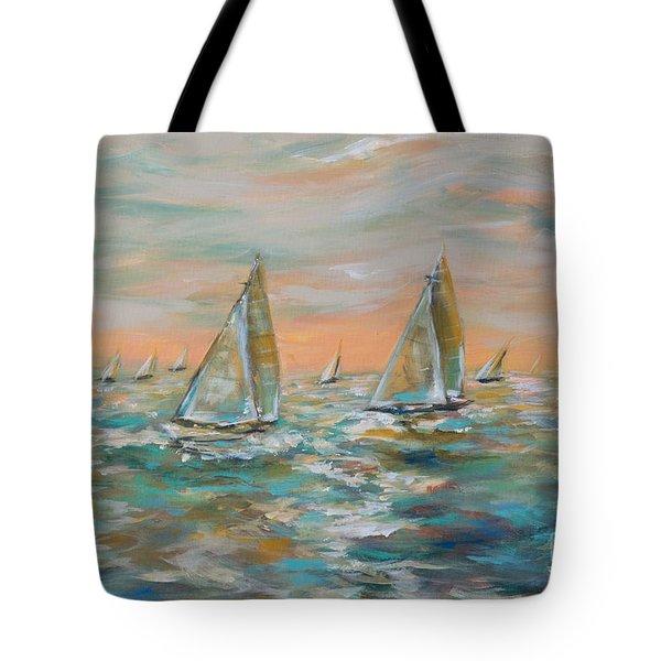 Ocean Regatta Tote Bag