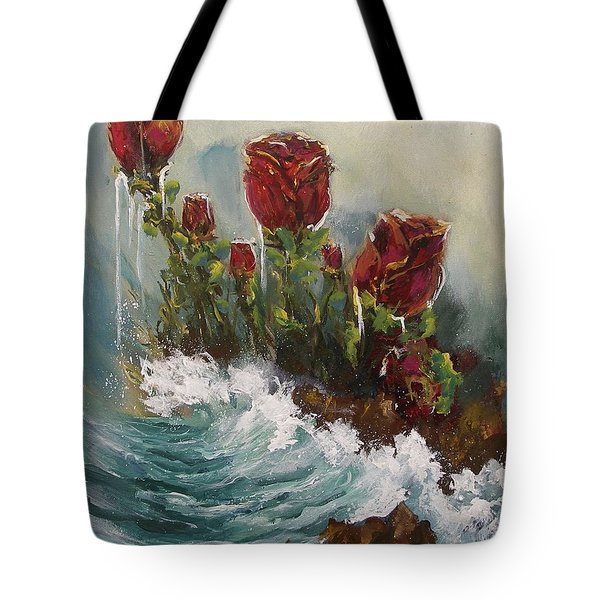 Ocean Rose Tote Bag