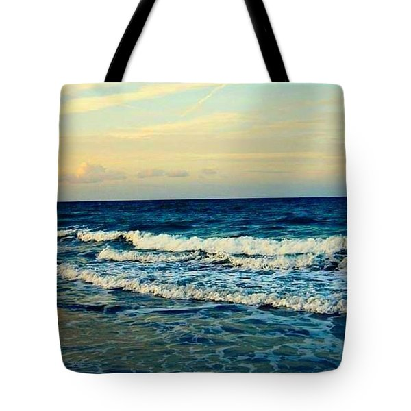 Tote Bag featuring the photograph Ocean by Artists With Autism Inc