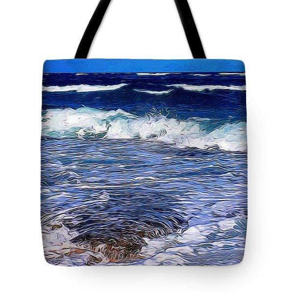 Ocean Scene In Abstract 14 Tote Bag