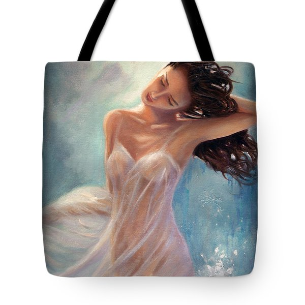 Tote Bag featuring the painting Ocean Serenade by Michael Rock