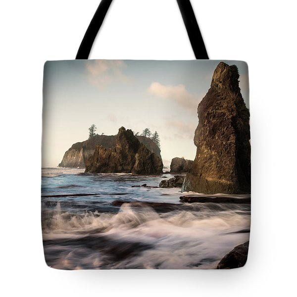 Tote Bag featuring the photograph Ocean Spire Signature Series by Chris McKenna