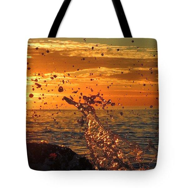 Ocean Splash Tote Bag by L Hollis