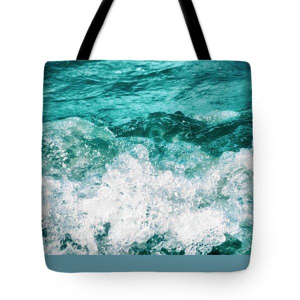 Ocean Splashes Tote Bag by Wim Lanclus