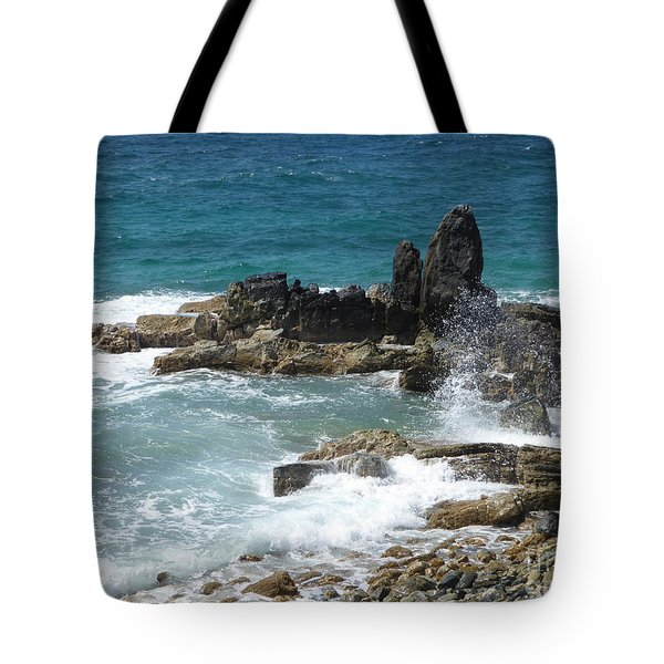 Ocean Spray Mid-air Tote Bag