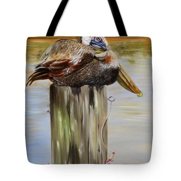 Ocean Springs Pelican Tote Bag by Phyllis Beiser