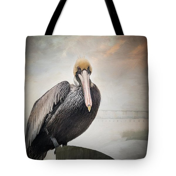 Ocean Springs Pelican Tote Bag