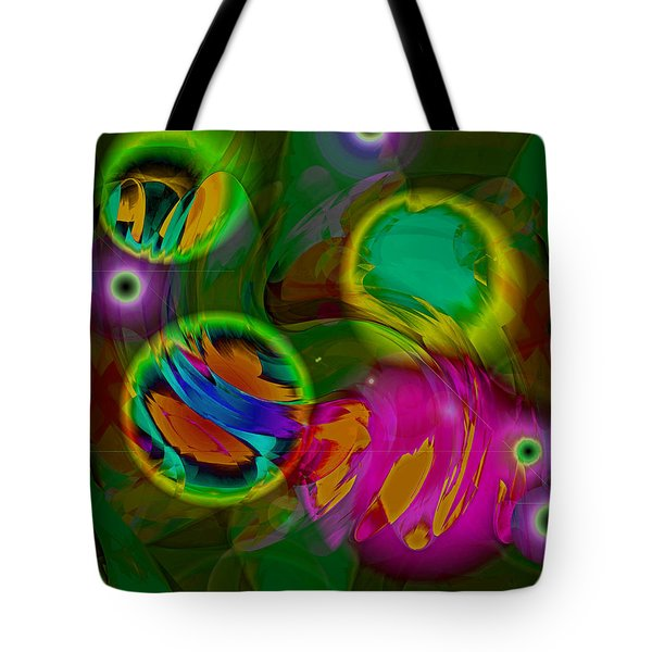 Tote Bag featuring the digital art Ocean Storm by Lynda Lehmann
