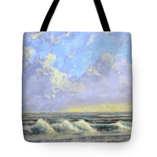 Ocean Storm Sunrise Tote Bag
