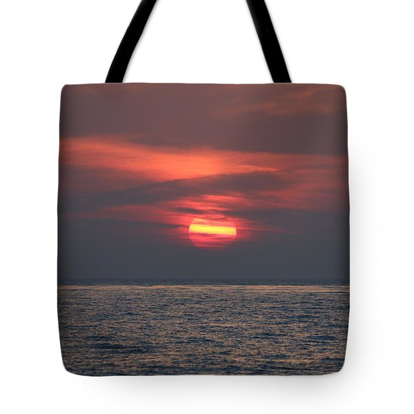 Ocean Sunset - 5 Tote Bag by Christy Pooschke
