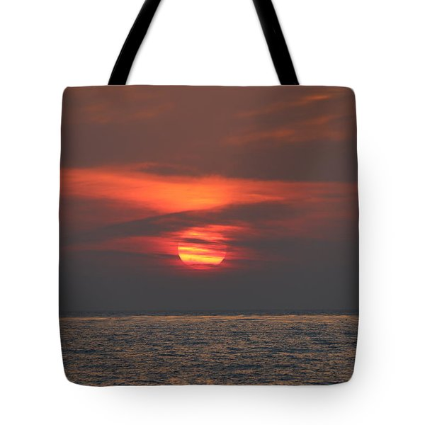 Ocean Sunset - 6 Tote Bag by Christy Pooschke
