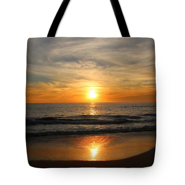 Ocean Sunset - 7 Tote Bag by Christy Pooschke