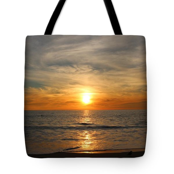 Ocean Sunset - 8 Tote Bag by Christy Pooschke