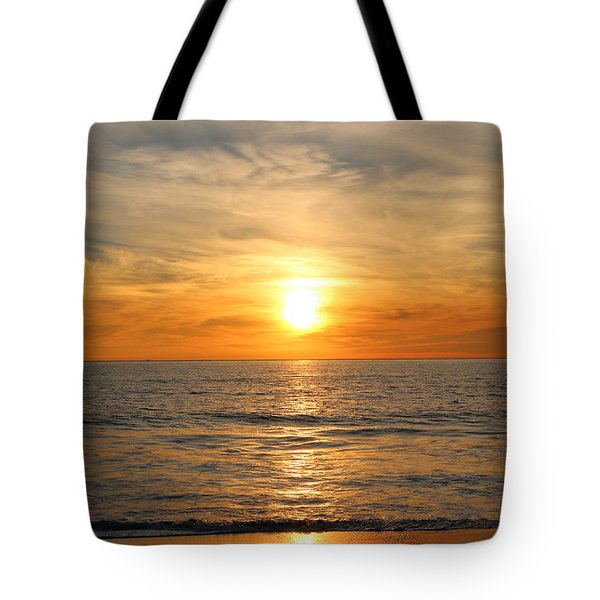 Ocean Sunset - 9 Tote Bag by Christy Pooschke