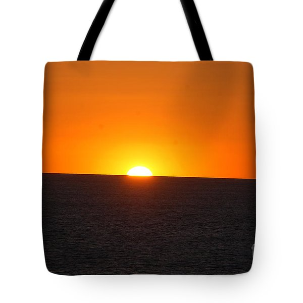 Tote Bag featuring the photograph Ocean Sunset by Frank Stallone