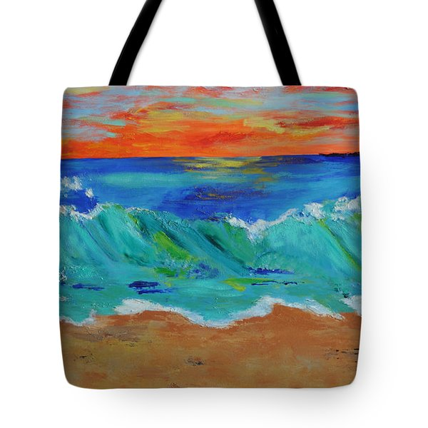 Ocean Sunset Tote Bag