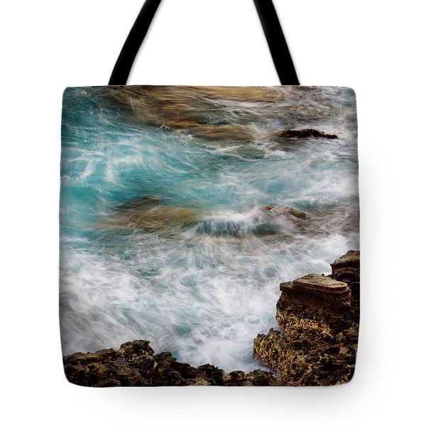 Tote Bag featuring the photograph Ocean Surge by Charmian Vistaunet