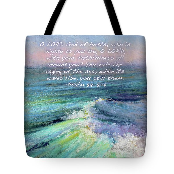 Ocean Symphony With Bible Verse Tote Bag