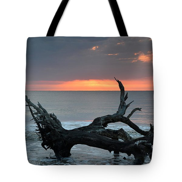 Ocean Treescape At Sunrise Tote Bag by Bruce Gourley