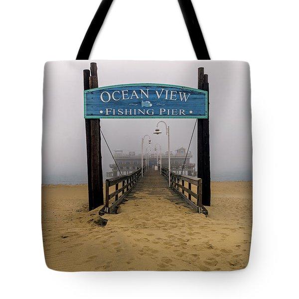 Ocean View Pier Tote Bag