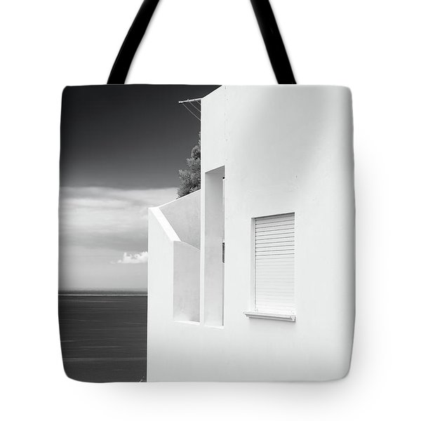 Ocean View White House Tote Bag