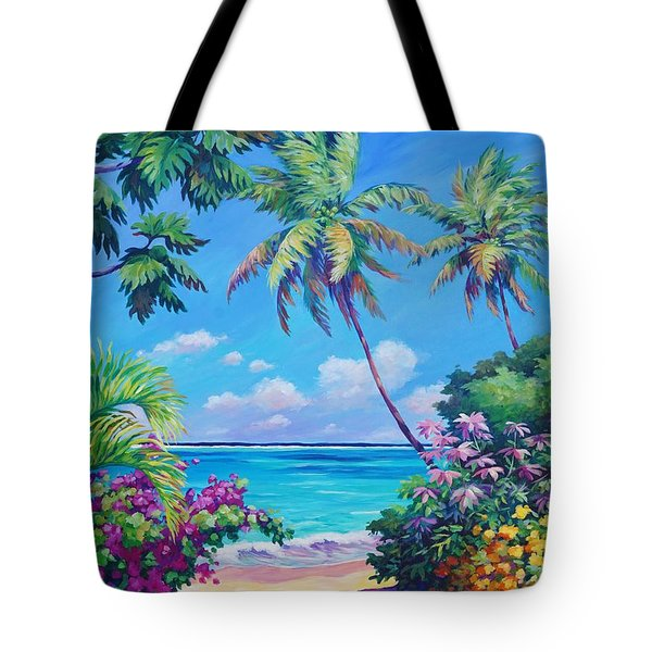 Ocean View With Breadfruit Tree Tote Bag