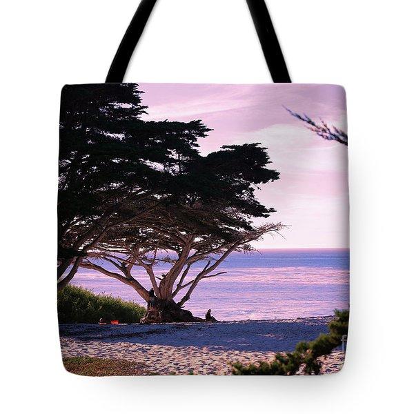Ocean Views From Carmel Beach  Tote Bag