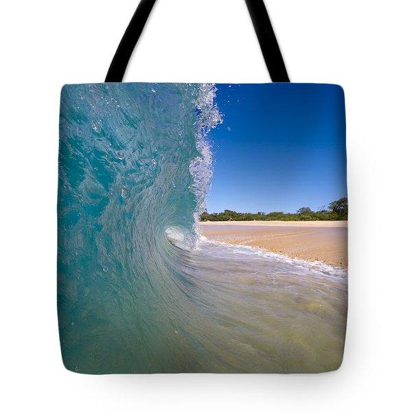 Ocean Wave Barrel Tote Bag