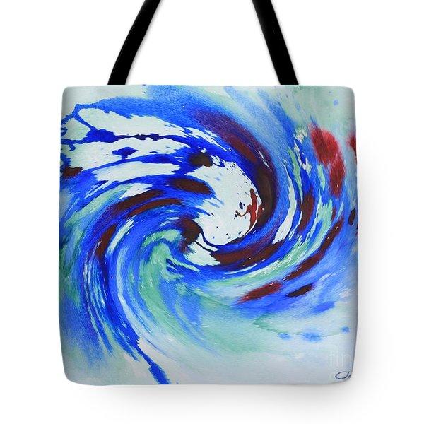 Ocean Wave Watercolor Tote Bag