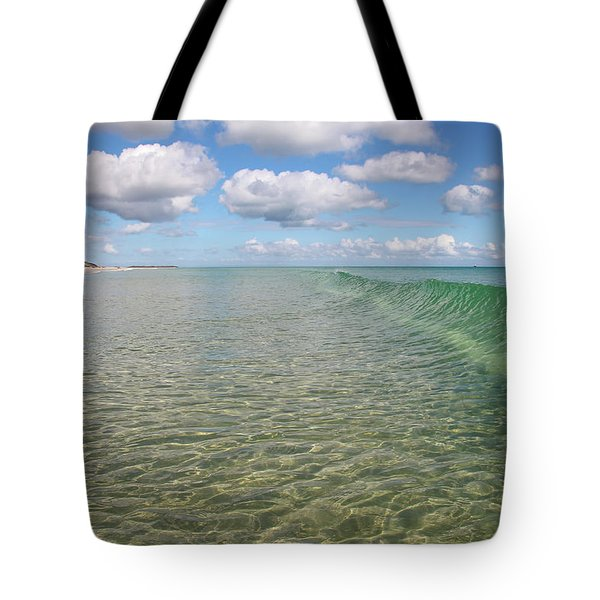 Ocean Waves And Clouds Rollin' By Tote Bag