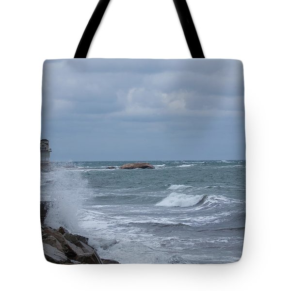 Ocean Waves At Minot Beach Tote Bag