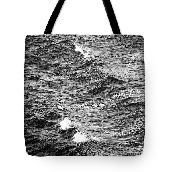 Tote Bag featuring the photograph Ocean Waves Black And White by Tim Hester