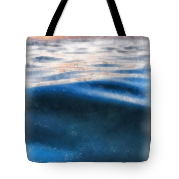 Tote Bag featuring the painting Ocean Waves by Edward Fielding