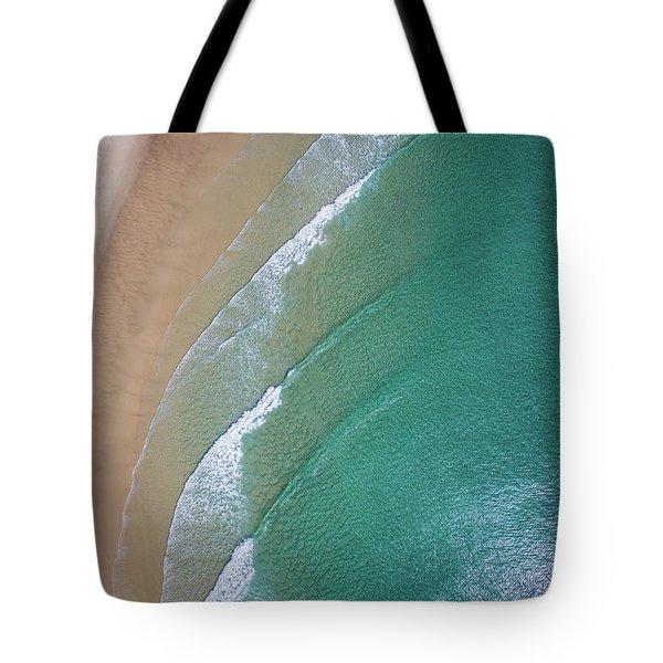 Ocean Waves Upon The Beach Tote Bag