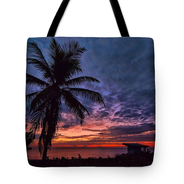 Tote Bag featuring the photograph Oceanfront Before Sunrise by Don Durfee