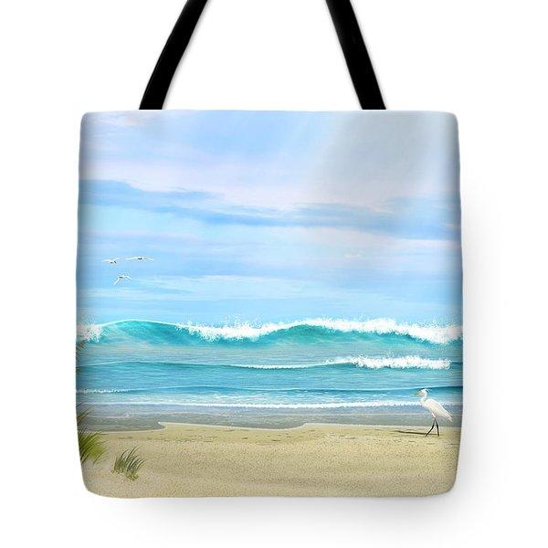 Oceanic Landscape Tote Bag
