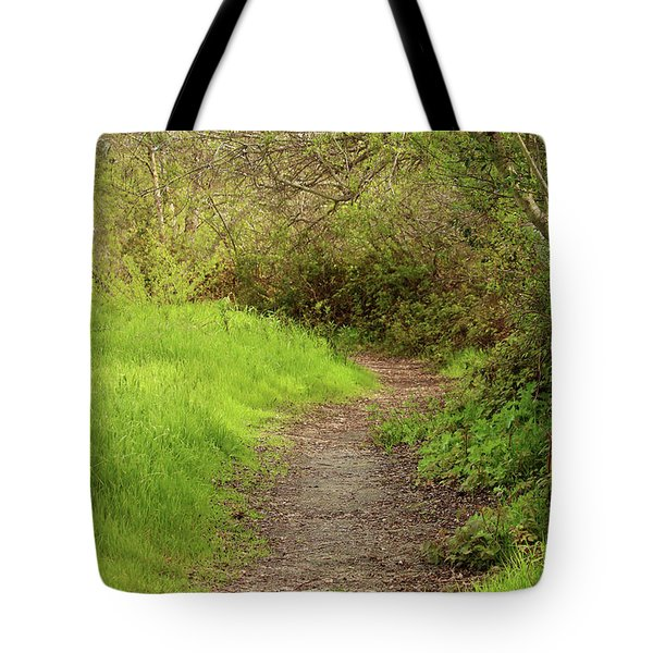 Tote Bag featuring the photograph Oceano Lagoon Trail by Art Block Collections