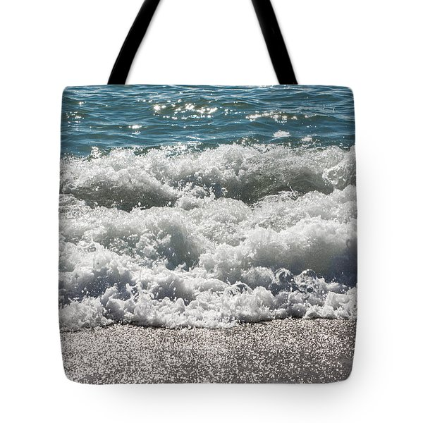 Tote Bag featuring the photograph Oceans Layers by Colleen Coccia
