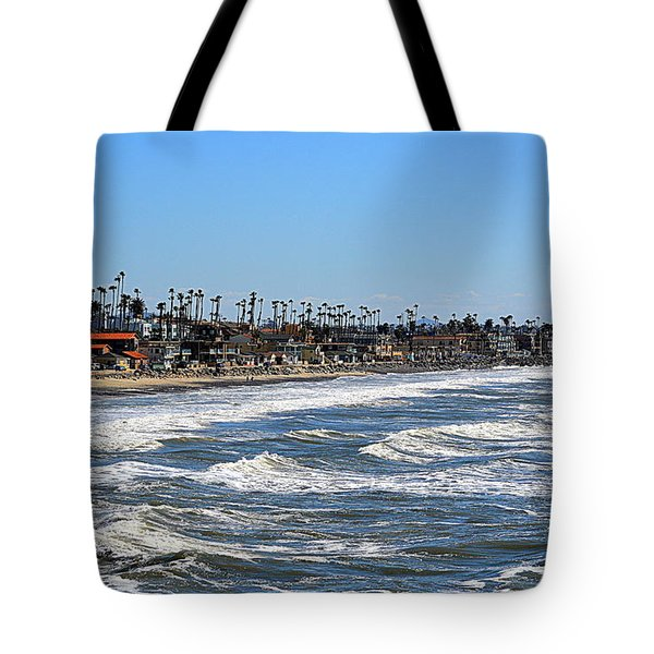 Tote Bag featuring the photograph Oceanside by AJ Schibig