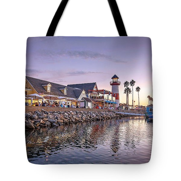 Oceanside Harbor Tote Bag by Ann Patterson