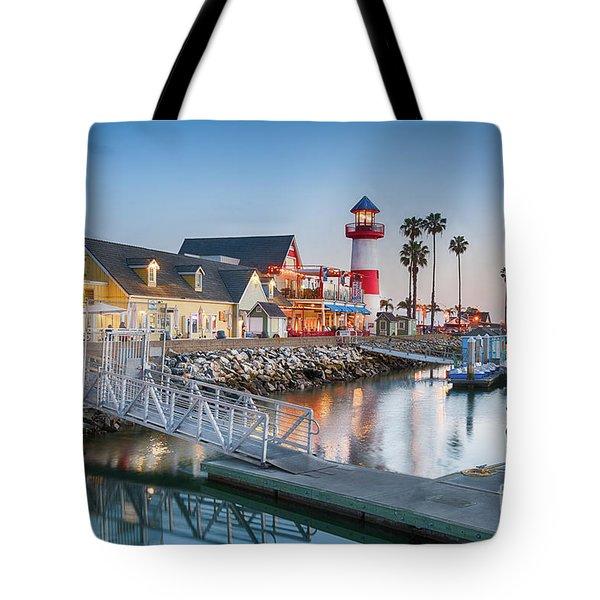 Oceanside Harbor Village At Dusk Tote Bag
