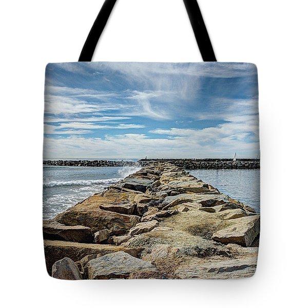 Oceanside Jetty Tote Bag