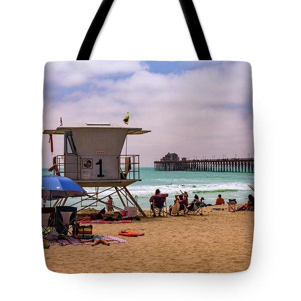 Oceanside Lifeguard Tote Bag