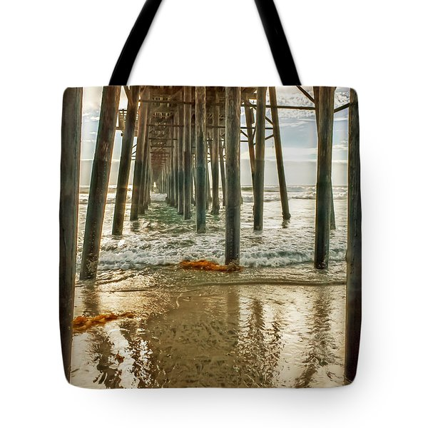 Oceanside - Low Tide Under The Pier Tote Bag