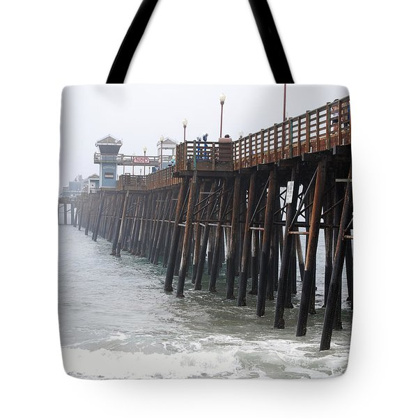 Oceanside Pier  Tote Bag by Bill Dutting